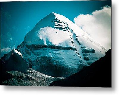 Mount Kailash Home Of The Lord Shiva Metal Print by Raimond Klavins