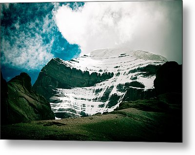 Mount Kailash Western Slope Home Of The Lord Shiva Metal Print by Raimond Klavins