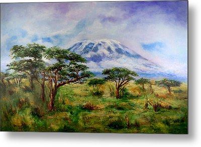 Mount Kilimanjaro Tanzania Metal Print