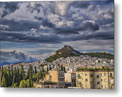 Metal Print featuring the photograph Mount Lycabettus In Late Afternoon by Micah Goff