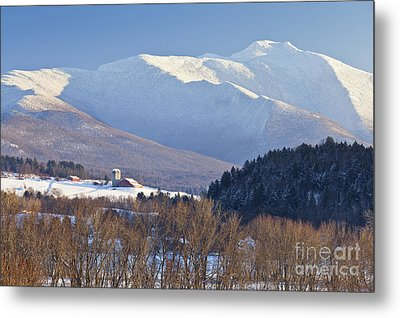 Mount Mansfield Winter Metal Print by Alan L Graham