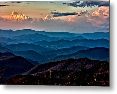 Metal Print featuring the photograph Mount Mitchell Sunset by John Haldane