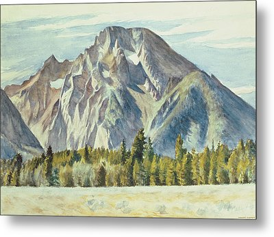 Mount Moran Metal Print by Edward Hopper
