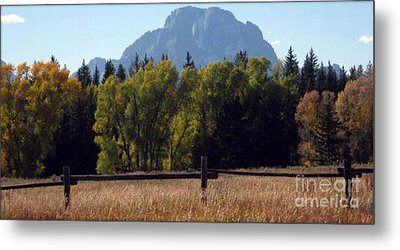 Metal Print featuring the photograph Mount Moran by Janice Westerberg
