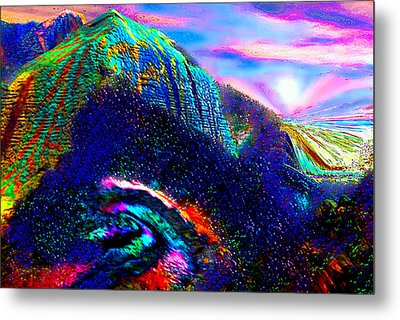 Mount Of Visionaries V.14 Enhanced Metal Print by Rebecca Phillips