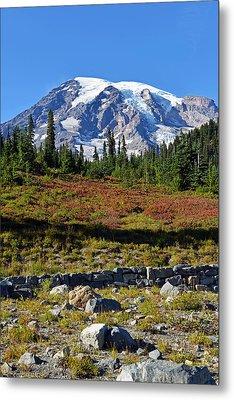 Mount Rainier Metal Print by Anthony Baatz