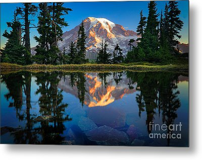 Mount Rainier From Tatoosh Range Metal Print by Inge Johnsson