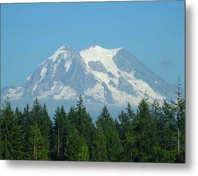 Mount Rainier Metal Print by Kathy Long