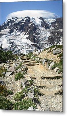 Mount Rainier Trail Metal Print