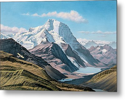 Mount Robson From The Air    Metal Print by Paul Krapf