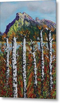 Mount Rundle Banff Alberta Metal Print by Joyce Sherwin