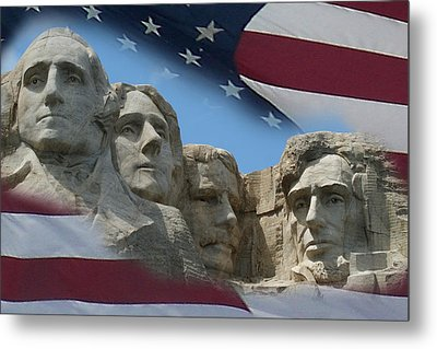 Mount Rushmore 1 Metal Print by Ernie Echols