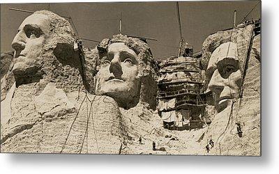 Mount Rushmore Construction Metal Print