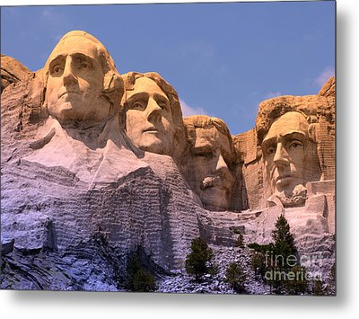 Metal Print featuring the photograph Mount Rushmore by Olivier Le Queinec