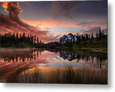 Mount Shuksan Fiery Sunrise Metal Print by Dan Mihai