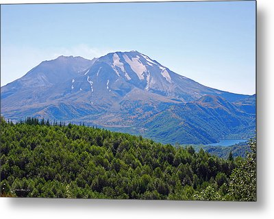 Mount St. Helens And Castle Lake In August Metal Print by Connie Fox