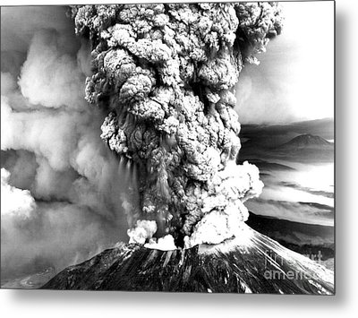 Mount St Helens Eruption Metal Print by Usgs