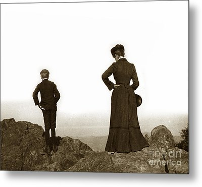 Metal Print featuring the photograph Mount Tamalpais Marin County California Circa 1902 by California Views Mr Pat Hathaway Archives