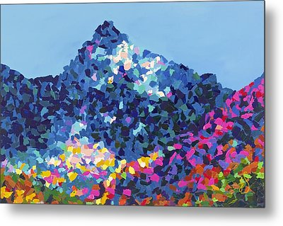 Mountain Abstract Jasper Alberta Metal Print by Joyce Sherwin
