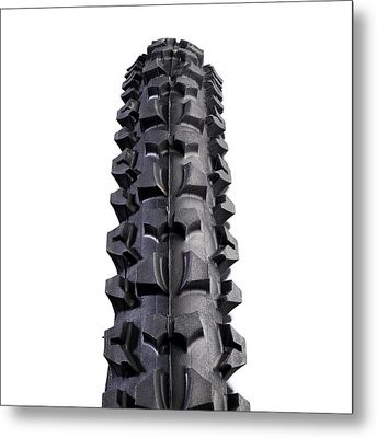 Mountain Bike Tyre Metal Print