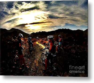 Mountain Biking Ladies Metal Print by Scott Allison