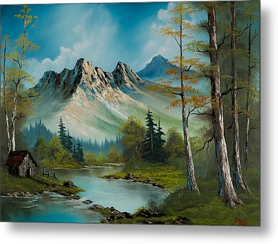 Mountain Retreat Metal Print by C Steele