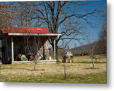 Mountain Cabin In Tennessee 2 Metal Print by Douglas Barnett