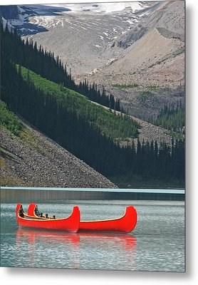 Mountain Canoes Metal Print by Marcia Socolik