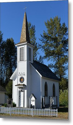 Mountain Chapel Metal Print by Anthony Baatz