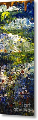 Metal Print featuring the painting Mountain Creek by Jacqueline Athmann