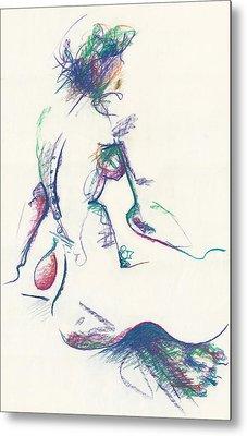 Mountain Dew Nude Metal Print by Melinda Dare Benfield