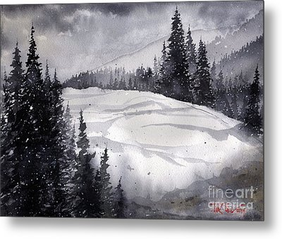 Mountain Drift Metal Print