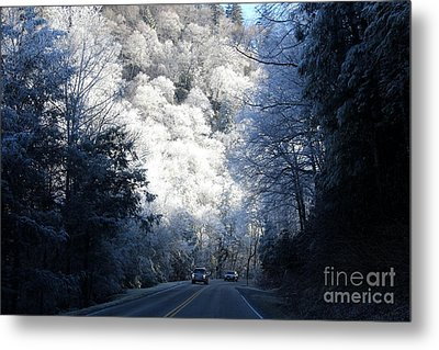 Mountain Drive Metal Print by Jeanne Forsythe