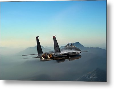 Mountain Eagle Metal Print by Peter Chilelli