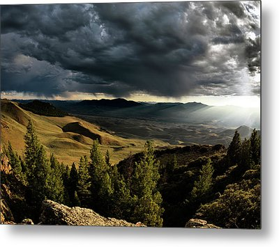 Mountain Evening Metal Print by Leland D Howard