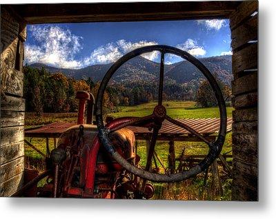 Mountain Farm View Metal Print