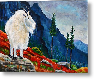 Mountain Goat Country Metal Print by Harriet Peck Taylor