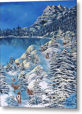 Mountain Goats Of Grand Forks Metal Print by Barbara St Jean