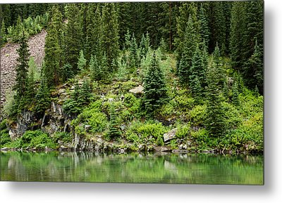 Mountain Green Metal Print by Adam Pender