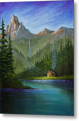 Mountain Haven Metal Print by C Steele