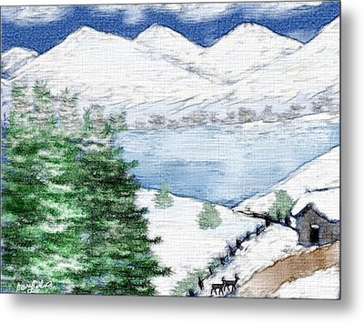 Mountain High Metal Print by Mary M Collins