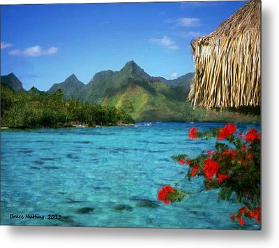 Metal Print featuring the painting Mountain Lake by Bruce Nutting