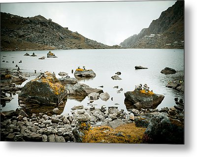 Mountain Lake Gosaikunda Nepal Metal Print