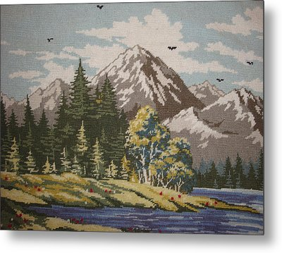Mountain Lanscape Metal Print by Eugen Mihalascu