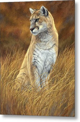 Mountain Lion Metal Print by Lucie Bilodeau