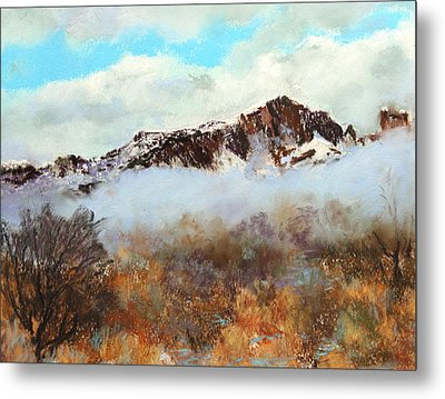 Metal Print featuring the painting Mountain Mist by M Diane Bonaparte