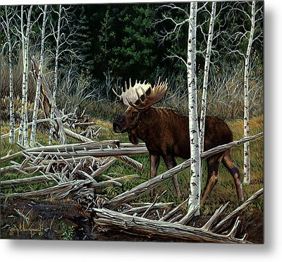 Metal Print featuring the painting Mountain Monarch by Craig T Burgwardt