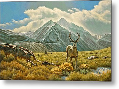 Mountain Muley Metal Print