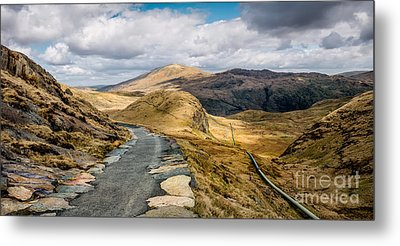 Mountain Path Metal Print by Adrian Evans