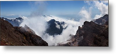 Mountain Peak Surrounded With Clouds Metal Print by Panoramic Images